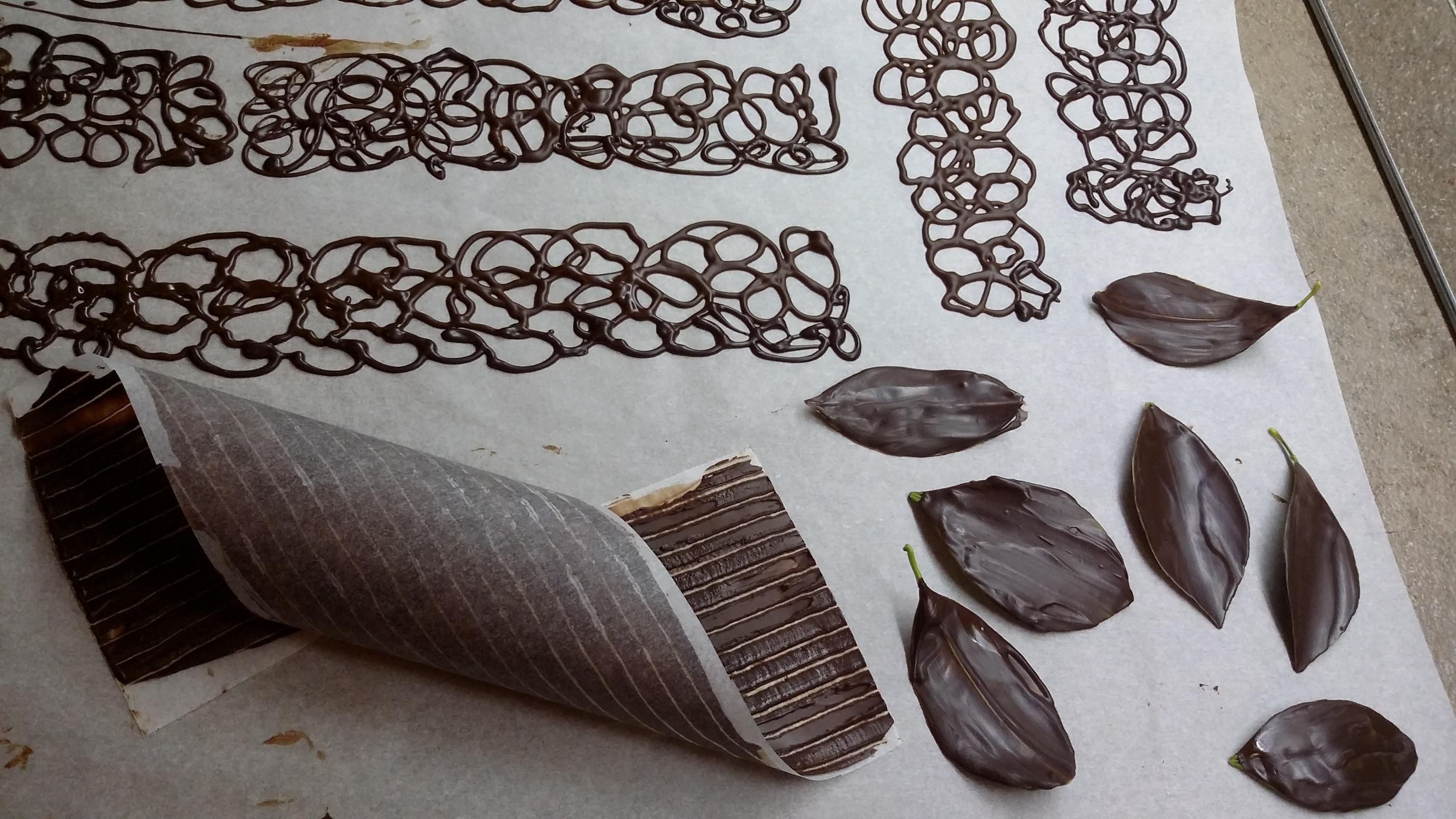 decorazioni cioccolato carta forno idea d 39 immagine di